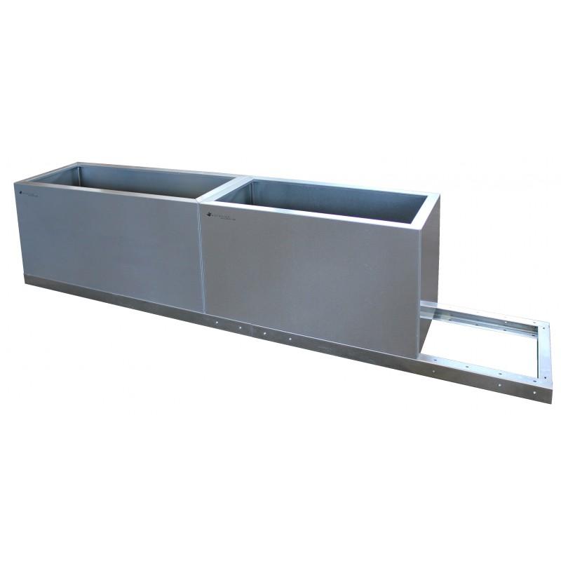 Design Pflanzkübel, Pflanztrog aus Metall, Corten, Edelrost, Dekoration