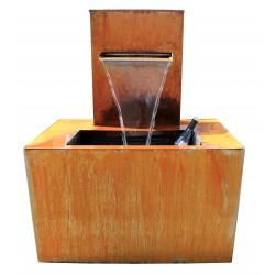Brunnen AQUA BOX | Corten - Edelstahl