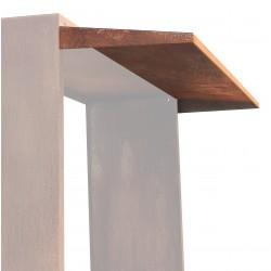 Kaminholzregal WOODPECKER Dach | Corten