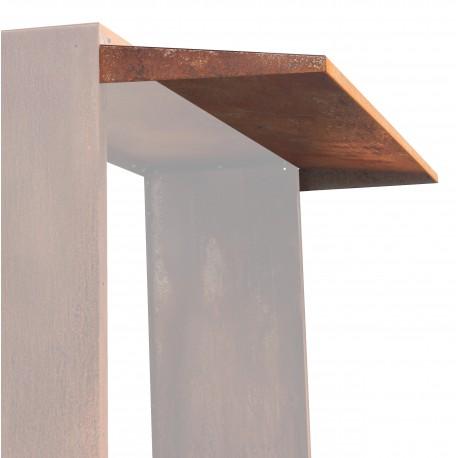 Ruckwand Design Kaminholz Regal Aus Metall Corten Edelrost Dekoration