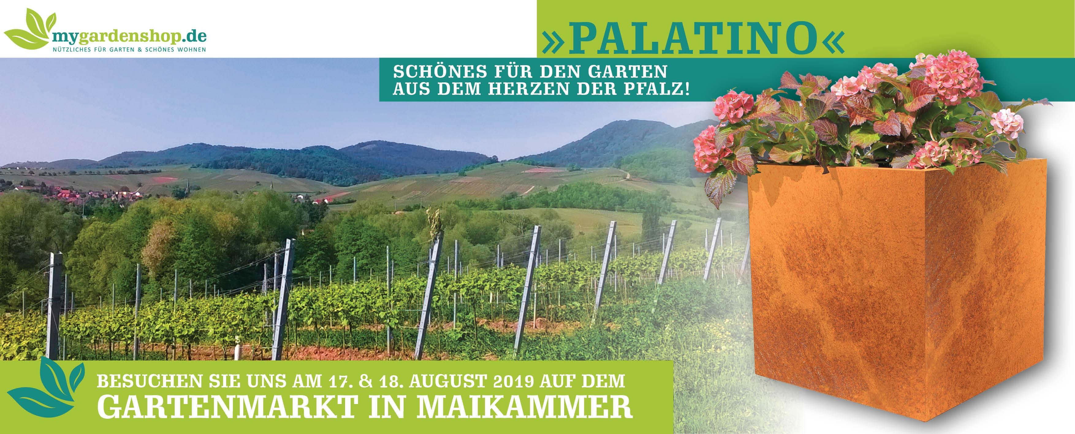 Besuchen Sie uns auf dem Pfälzer Gartenmarkt in Maikammer an der Südlichen Weinstrasse!